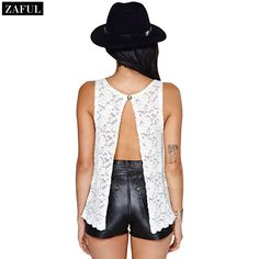 Aliexpress.com : Buy ZAFUL Hot Sale Summer Beach Lace Tank Top Women's Round Neck Sleeveless Sexy See through Backless Slit Tops Plus Size 2015 from Reliable lace tank dress suppliers on ZAFUL | Alibaba Group