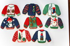 Ugly Christmas Sweaters  photo by SUGAR RUSH CUSTOM COOKIES