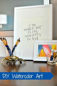 DIY Watercolor Art from @Grace | The Big Reveal | Find watercolor paints and prints at your local @Jo-Ann Fabric and Craft Stores
