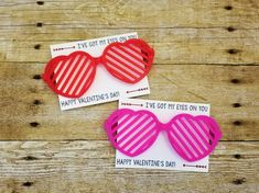 These classroom valentines for kids are just too cool for school! Boys and girls alike will love these stylish glasses to wear for valentines.  These are a great alternative to candy or other allergens.  These toy valentines are perfect even for preschool classes.  Everyone will love being so stylish and fun! Each valentine comes with one pair of glasses affixed to a clever and cute valentine card.  The glasses come in either red, pink, purple, and blue and will vary based on current stock… Valentine Cards To Make, Valentine Gifts For Girls, Cute Valentines Card, Kids Valentines, Valentine Ideas, Preschool Gifts, Preschool Ideas, Valentine's Cards For Kids, Little Girl Gifts