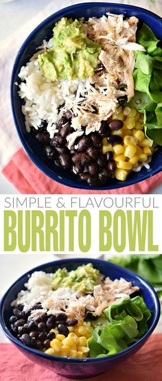 This Burrito bowl is a simple and nourishing lunch idea. Filled with fresh ingredients and plenty of flavour, this lunch bowl is sure to be a hit!
