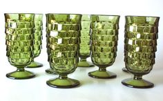 Set of 8 Vintage Whitehall Parfait Glasses by Coventry by PoorLittleRobin, $50.00