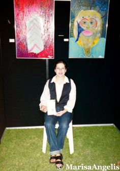 "Grecian Pelagos Exhibition Marisa Angelis - Australian  Artist Painter Designer Writer Poet Philanthropist Humanitarian Promoter - who holds four nominations, including ""Australian of the Year 2003"" Short List - Role Model  © www.marisaangelis.com - Art"