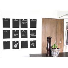Weekplanner krijt zelfklevend op je muur voor je boodschappen, weekplanning, verjaardagen. Of de tekeningen van je kinderen. Praktisch en decoratief!