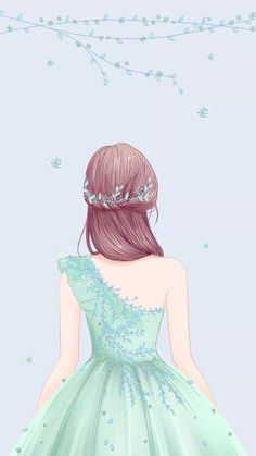 New wall paper anime art beautiful Ideas Anime Girl Drawings, Girly Drawings, Anime Art Girl, Cute Girl Wallpaper, Cartoon Wallpaper, Flower Crown Drawing, Arte Fashion, Cute Girl Drawing, Drawing Pin