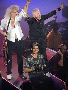 Brian May, Roger Taylor & Adam Lambert, London show, 11th July 2012 | Source: @GlamazonToronto