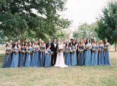 Blue Jenny Yoo bridesmaid dresses