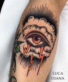32 Tattoos Ideas for Women - Page 17 of 31 - Tattoo Designs Sanduhr Tattoo Old School, Old School Tattoo Designs, Traditional Tattoo Eye, Traditional Tattoo Old School, Traditional Tattoo Sleeves, Ojo Tattoo, Tattoos Mandala, Geometric Tattoos, Tattoo Ink