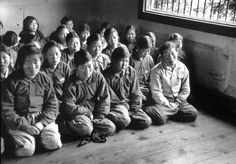 Group of hard-line Communist female guerrilla prisoners in Korean National prison during trial in which they are judged as harshly as the men incl. Margaret Bourke White, Korean War, Guerrilla, Art Google, Prison, Wwii, Politics, History, Life