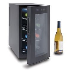 The Best Countertop Wine Refrigerator - Hammacher Schlemmer - i really dont think ill need to store more than 4 bottles at a time