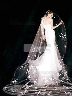 Single Layer Tulle Cathedral Length Penci Edge by VILAVIdresses, $15.69