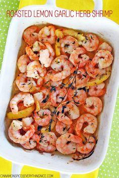 Roasted Lemon Garlic Herb Shrimp Scampi