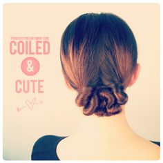 coiled and cute hair - the beauty department (i generally want to pin every single hair tutorial from this site...)