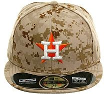 54fd3e6a8c6 New Era Authentic Collection 5950 Houston Astros 2013 Memorial Day Hat -  Camo.  37.99