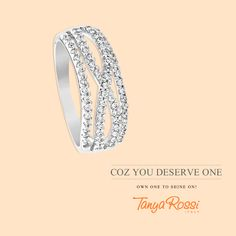 #Glamming up? Here's the perfect partner! #TanyaRossi #Jewellery #Ring