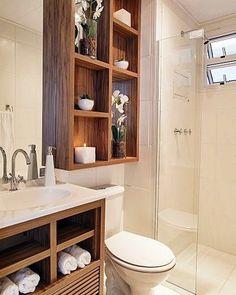 Por um banheiro com mais lugares para organizar nossas várias coisinhas...#banheiro #organização #organizesemfrescuras