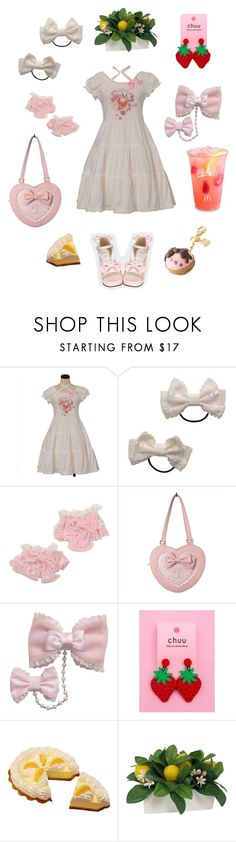 """Strawberry Lemonade"" by lonlapi ❤ liked on Polyvore featuring Threshold"