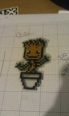 Delivery is instant, and in PDF form.  Adorable chibi Groot is adorable, and easy to stitch!  I do not consent to people reselling this design, or selling the finished product for personal gain. If you are interested in using the finished product for charity purposes please message me first.