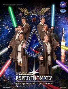 Galaxy Fantasy: La tripulación de la ISS se viste de Jedi protagonizando el cartel de su última misión