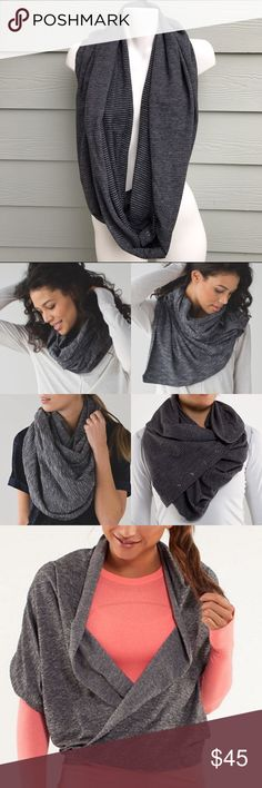 Lululemon Vinyasa Scarf Perfect condition; gently used; very soft; very comfortable; this scarf can be worn in many different ways lululemon athletica Accessories Scarves & Wraps