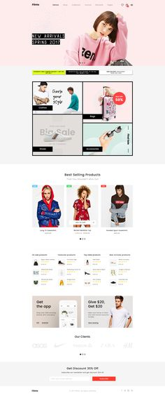 FLINTO – Modern and Unique eCommerce PSD Template by Tenigor | ThemeForest