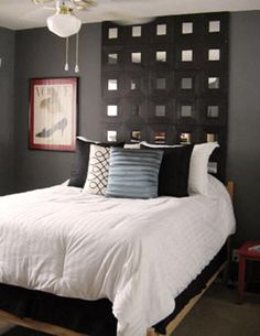 IKEA hack - Malma mirrors to create headboard [mine will be white mirrors, since my walls are a lot lighter]