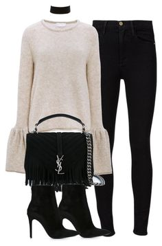 """Untitled #4330"" by maddie1128 ❤ liked on Polyvore featuring Frame Denim, CO, Yves Saint Laurent, Barbara Bui and Charlotte Russe"