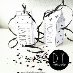 Leuke DIY melkpakjes met free downloads www.bijdeb.blogspot.com