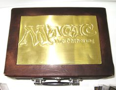 Custom Embossed Brass Deck Box for MTG Yugioh by FoxAndDragon, $35.00