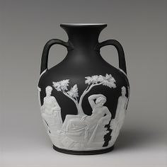 Portland Vase Made By Josiah Wedgwood And Sons - British, Staffordshire c.1840-1860
