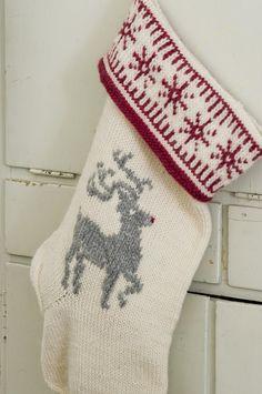 Stickad julstrumpa i Novita Joki | Novita knits
