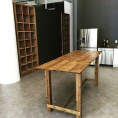 Industrial Bistro Height Community Table in White Oak