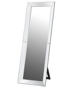 Full length mirror with a rectangular Venetian mirror frame and a minimal wood stand in complimentary black - for bedrooms & dressing rooms. Free delivery when you purchase this stylish mirror by Coach House. Dressing Mirror, Dressing Room, Cheval Mirror, Venetian Mirrors, Oversized Mirror, Free Delivery, Bedroom, Autumn 2017, Wood