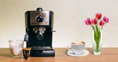 DeLonghi EC155 15 BAR Pump Espresso and Cappuccino Maker Review http://coffeebeangrinderplus.com/delonghi-ec155-review/  #coffee #delonghi #EC155 #cappuccino #cafe #espresso #tips #coffeemachine