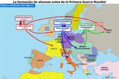 primera guerra mundial ( mapas) Triple Entente, Infinity War, Wwi, Europe, History, Bullet Journal, Notes, Maps, World History