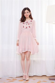 5a657d09598 cool 9575   2014 yards really making new Korean ladies temperament roses  embroidered chiffon skirt pregnant women dress. Yoon Haemi · Maternity  Fashion