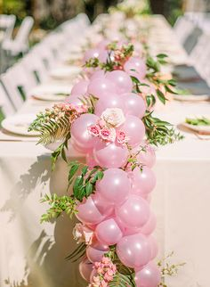 Oct 2018 - This ombré sunshine party celebrated a baby baptism with dialed up decor that couldn't be more fitting! The color palette ranged from pale yellow to bright pink and back again, and was incorporated into every element of the day. Wedding Balloon Decorations, Wedding Balloons, Birthday Decorations, Baby Shower Decorations, Masquerade Centerpieces, Balloon Table Centerpieces, Wedding Centerpieces, Baby Shower Balloons, Baby Shower Fun