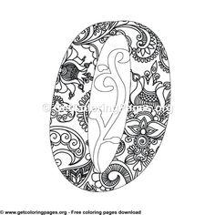 Floral Alphabet Letter F Coloring Pages Letter B Coloring Pages, Unicorn Coloring Pages, Pattern Coloring Pages, Free Adult Coloring Pages, Mandala Coloring Pages, Coloring Sheets, Coloring Books, Alphabet Design, Alphabet Art