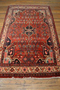 Antique Persian Rug / Vintage Oriental Rug by OakParkAntiques