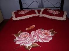 jogo de colcha pintados em tecido
