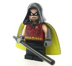Lego custom ARKHAM ROBIN - Batman Dark Knight Joker Tim Drake Red