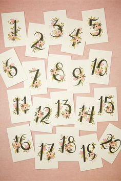 Floravine Table Numbers (5) from BHLDN