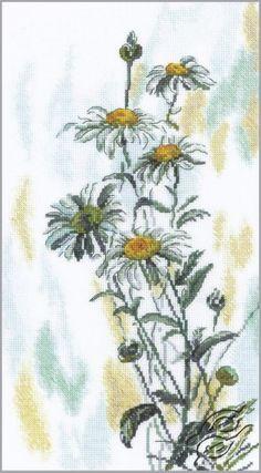 Gentle Daisies - Cross Stitch Kits by RTO - M261