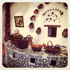 Cocina dentro del Ex Convento de Santa Mónica, Puebla.