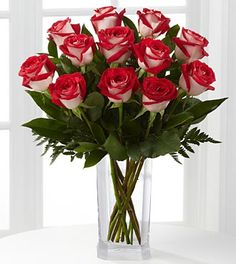 Passion™ for Fun Rose Bouquet - 12 Stems of 20-inch Roses - VASE INCLUDED