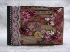 PRIMA ROMANCE NOVEL Chipboard Keepsake Scrapbook Photo Album - YouTube
