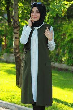 Bwest 1047 Astarlı Yelek #tesettür #kombin #tunik #pantolon #modelleri