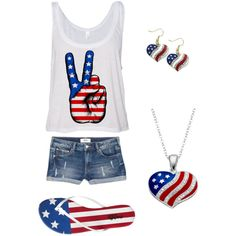 Forth of July  by alymargon on Polyvore featuring polyvore, fashion, style, MANGO and Charlotte Russe