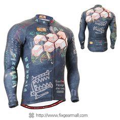 FIXGEAR CS-1501 Men s Cycling Jersey long sleeve 1e6a69d81