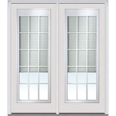 Full View Exterior Door With Blinds Premium Full Lite Mini Blind